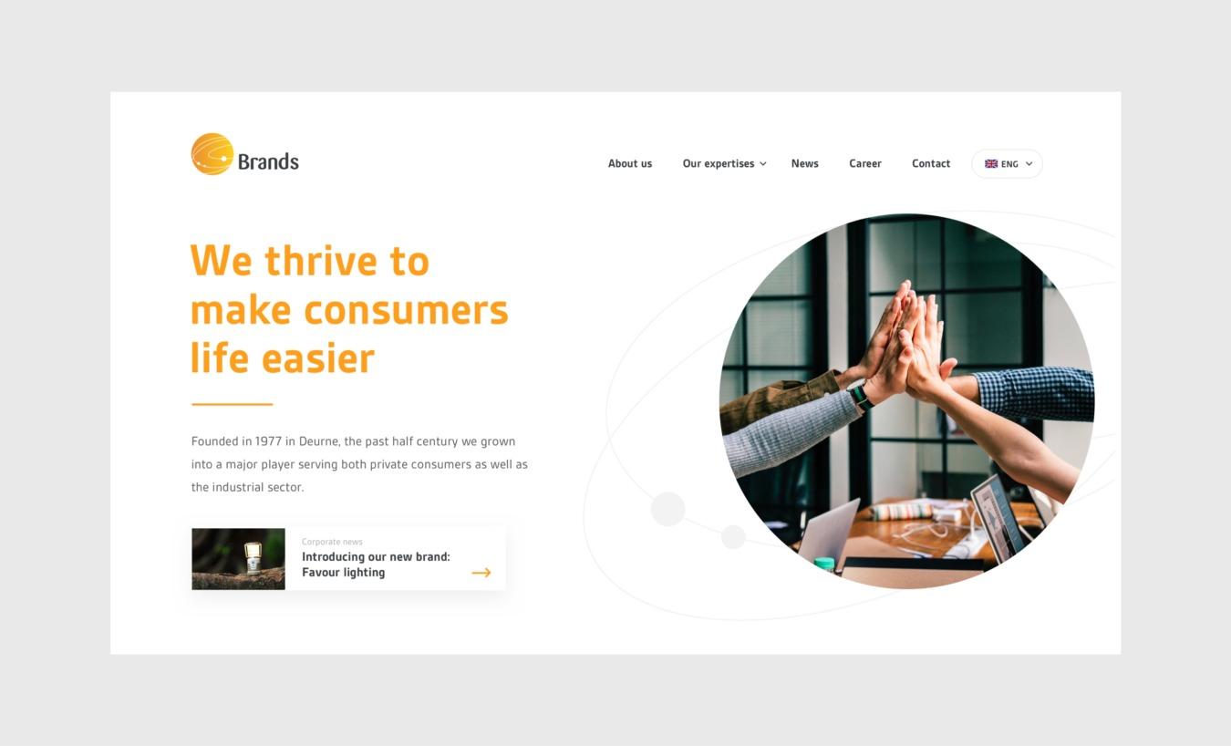 Website van Brands Group