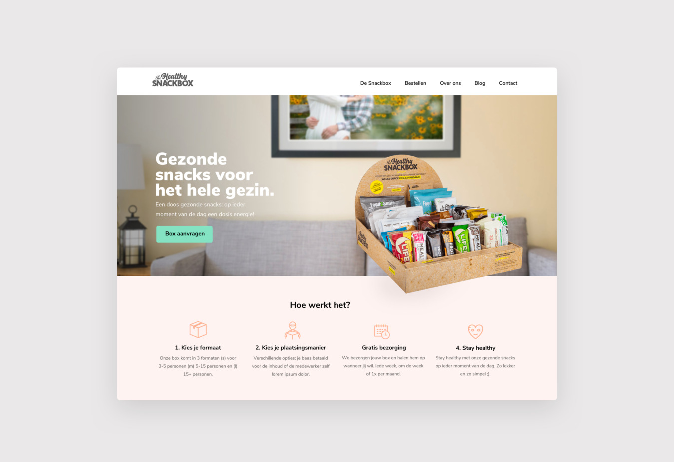 Healty Snackbox WordPress website