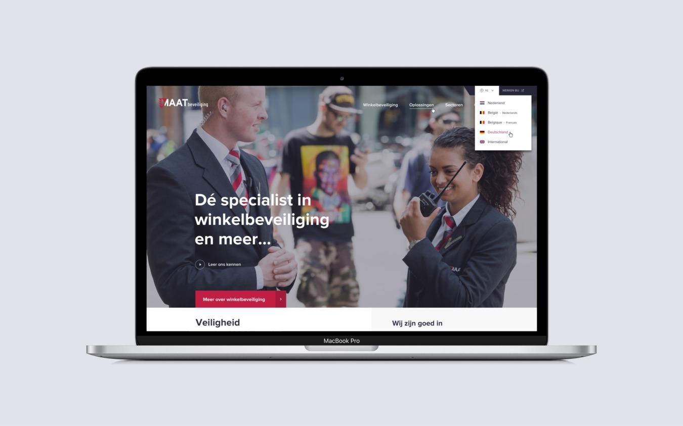 MAATbeveiliging website op desktop