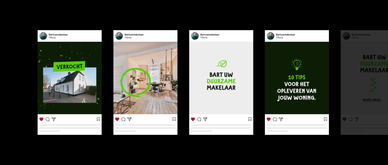 Bart uw makelaar op Instagram