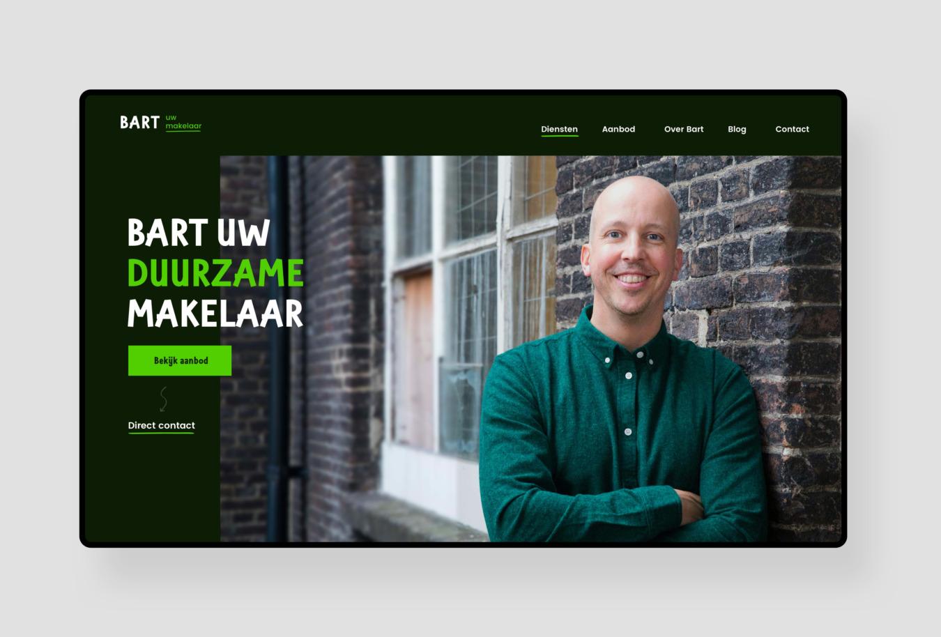 Website van Bart uw makelaar