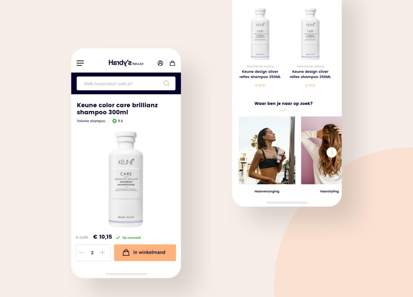 Productpagina van Hardy's Keuze op mobiel