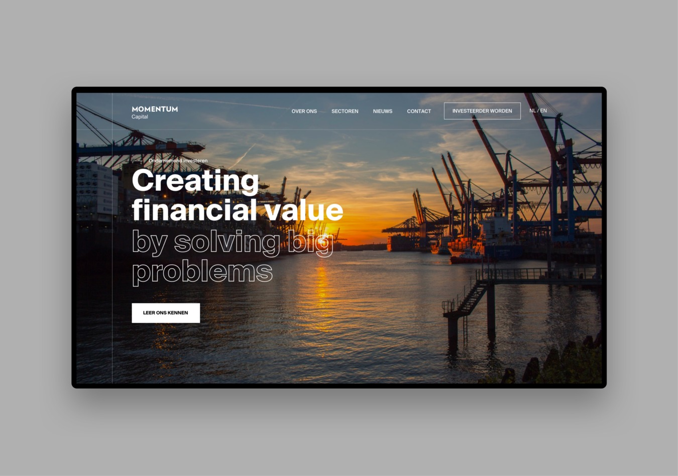 Website van Momentum Capital