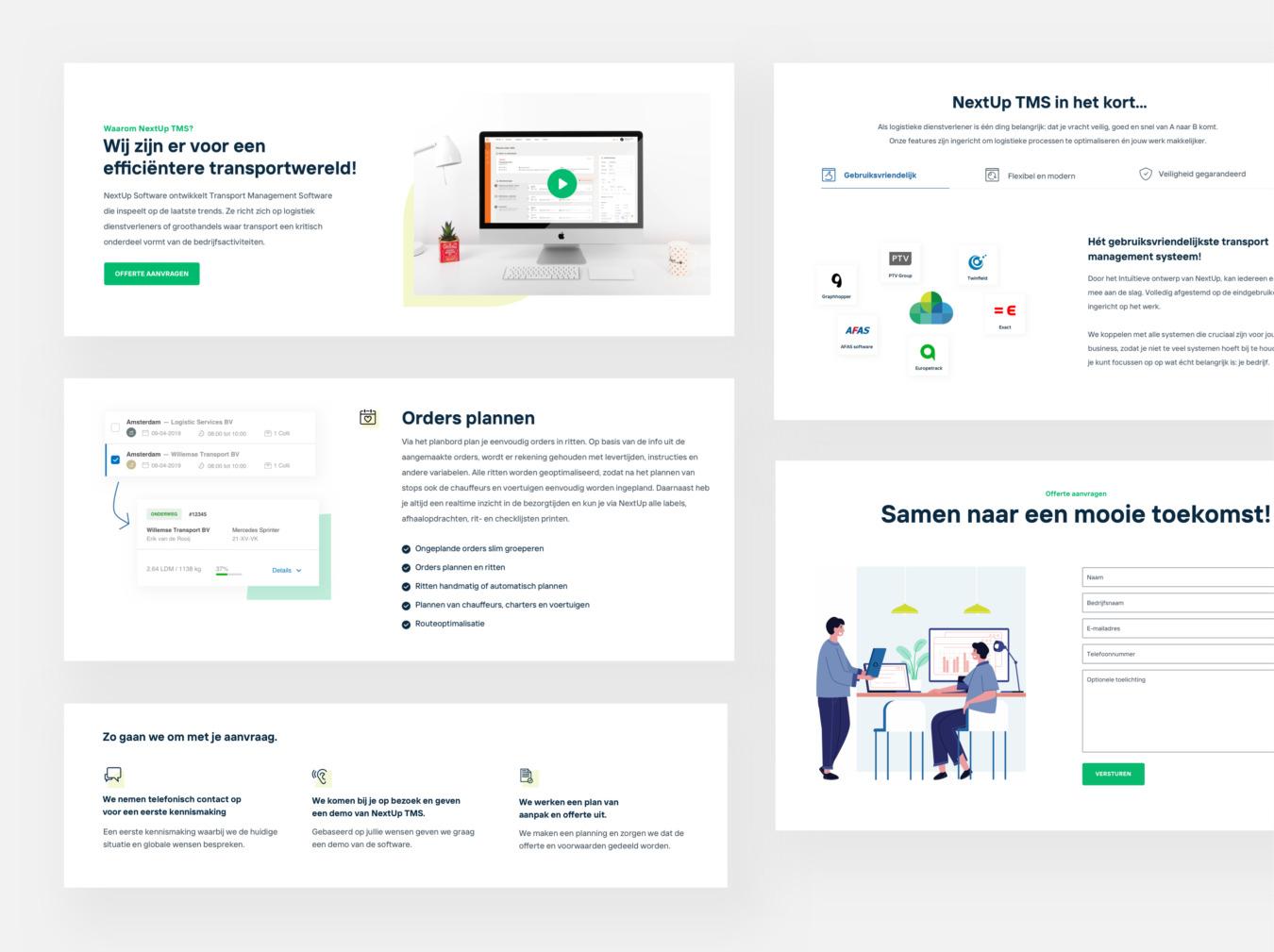 NextUp websitecomponenten