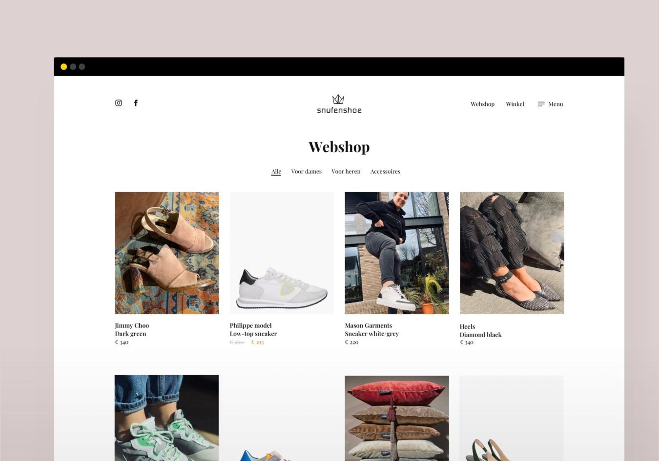 Webshop van Snufenshoe