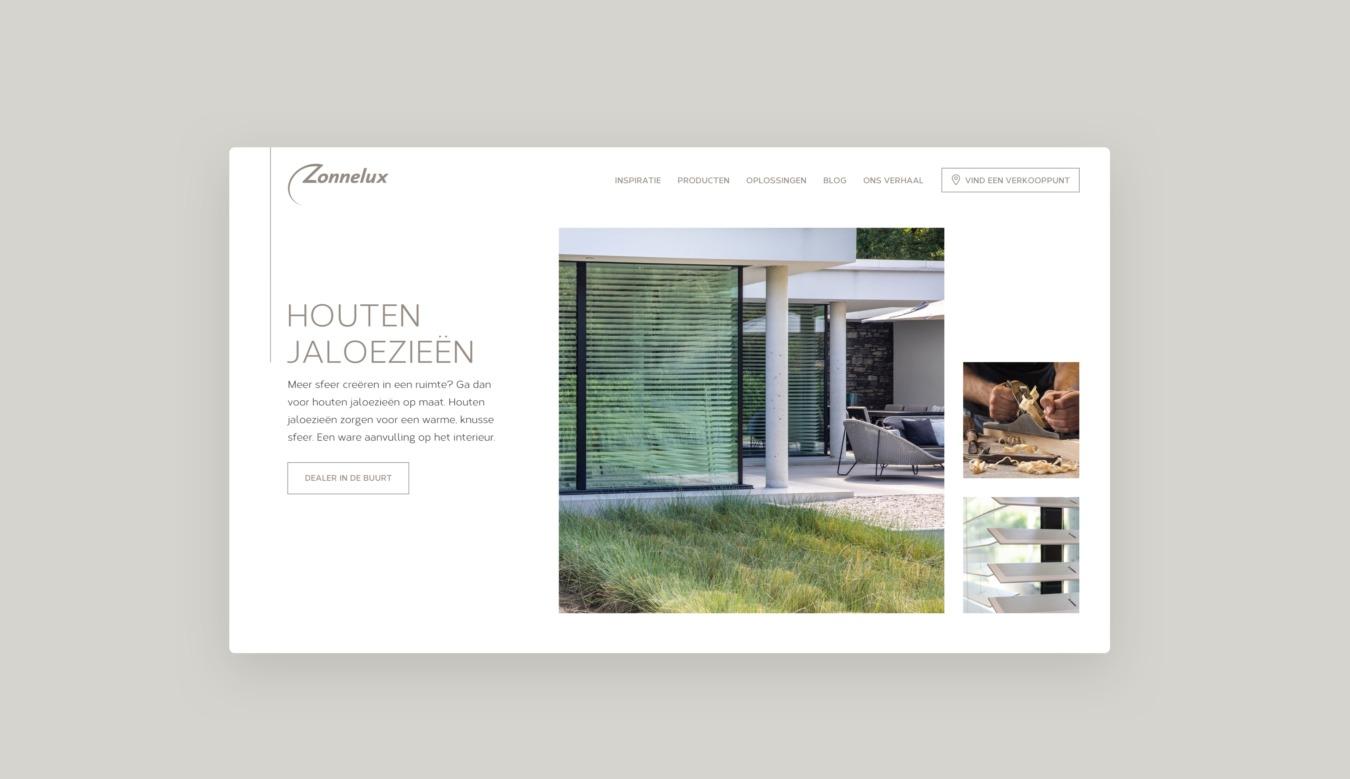 Website van Zonnelux