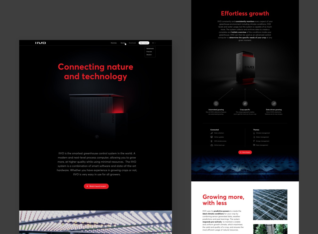 Deel van homepage readysetgrow website