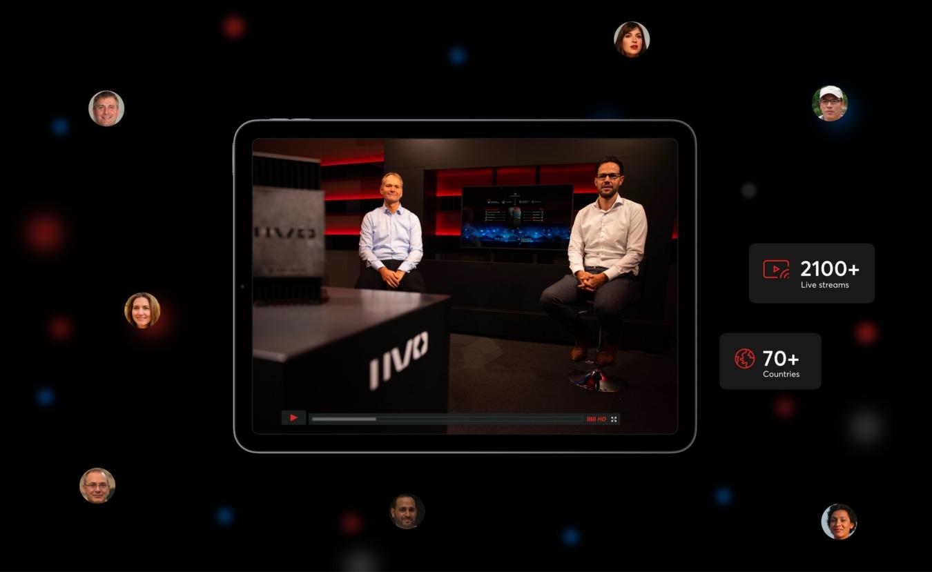 Readysetgrow website tablet weergave van livestream