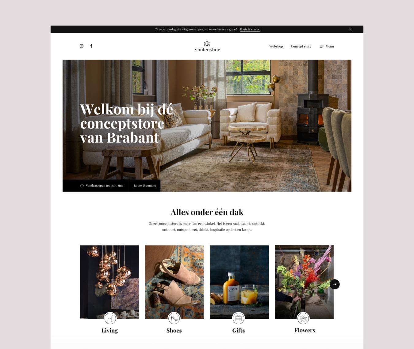Snufenshoe homepage website